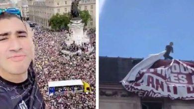Photo of Acrobate94 : il grimpe 4 étages pour décrocher une banderole « qui voulait encore nous diviser » et devient un héros [Vidéo]